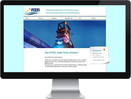 professionelles Webdesign für das Strahlentherapiezentrum emscher-lippe