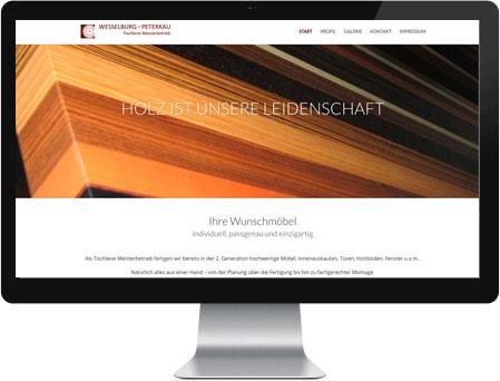 professionelles Webdesign für Tischlerei Wesselburg&Peterkau