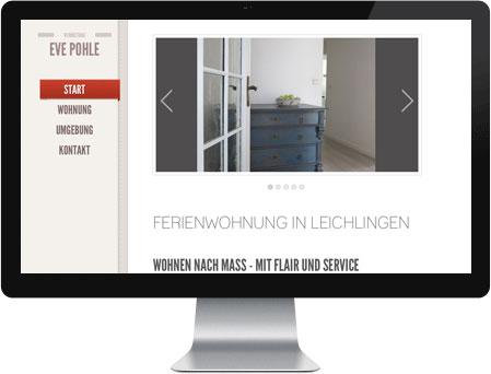 Professionelles Webdesign für Eve Pohle